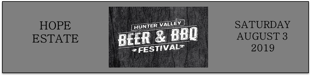 SATURDAY - Hunter Valley Beer & BBQ Festival